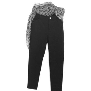 Michael Kors black pant-silver button
